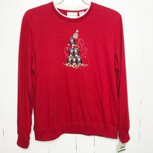 Alfred Dunner Embroidered Christmas Sweater NWT
